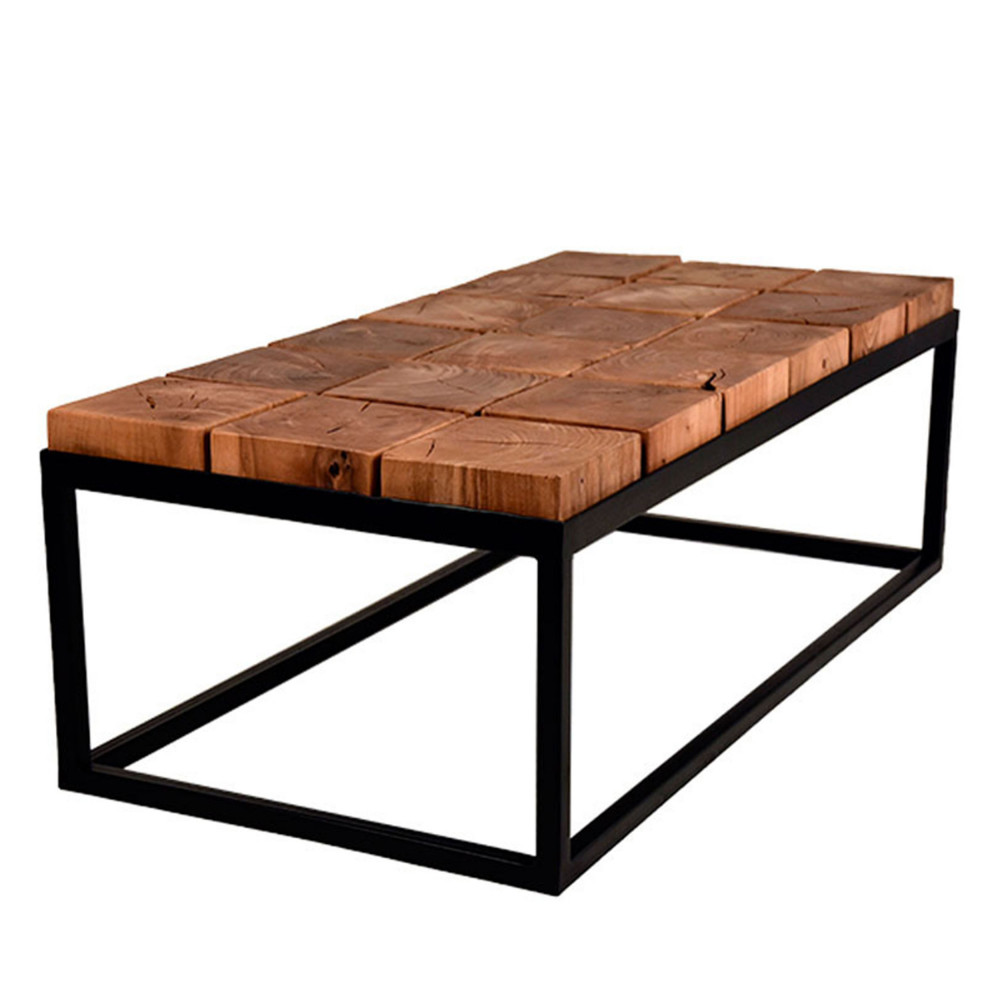 table basse bois et m tal industriel brick label 51 drawer. Black Bedroom Furniture Sets. Home Design Ideas