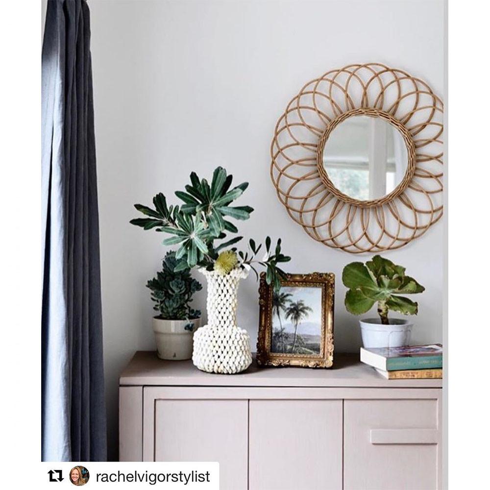 miroir rond osier jane hk living drawer. Black Bedroom Furniture Sets. Home Design Ideas