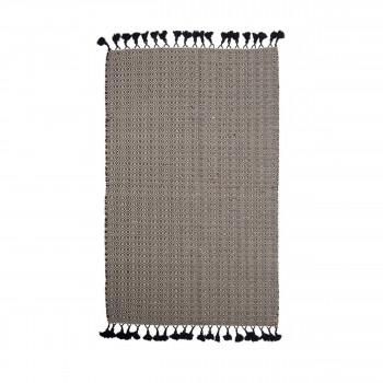 tapis type berb re tiss main en laine beige et gris pavot