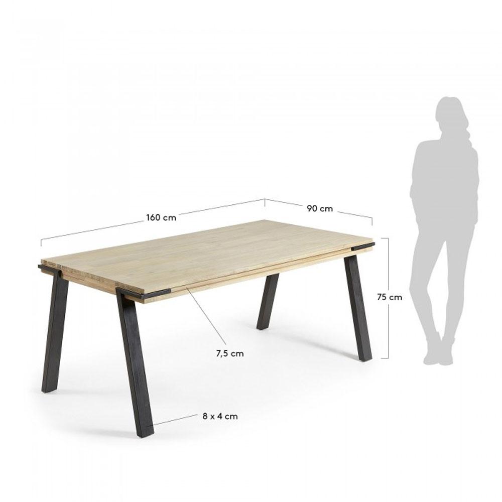 Table À Manger Industrielle table à manger design bois massif et métal - spike