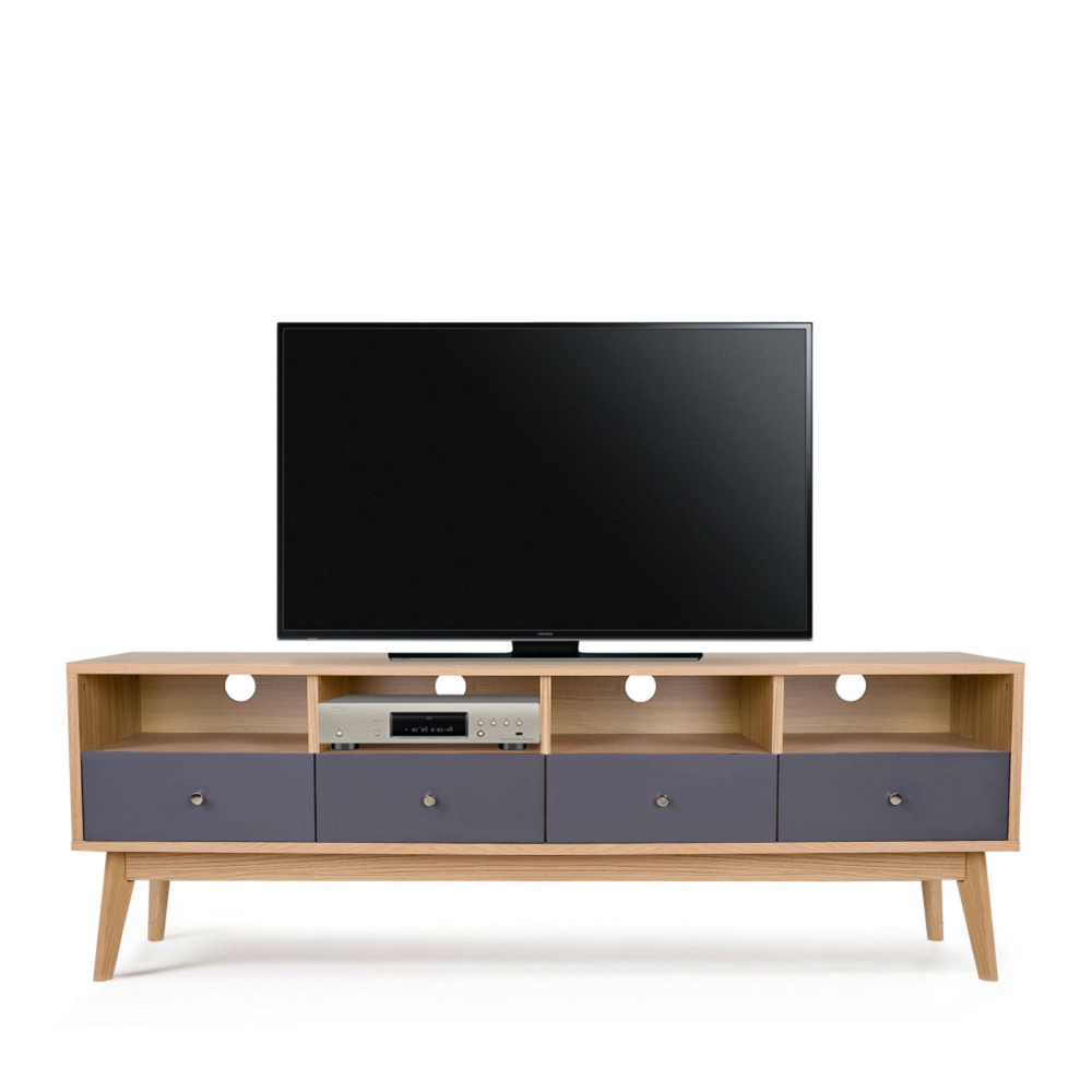 Meuble tv scandinave 4 tiroirs skoll by drawer - Meuble tv scandinave ...