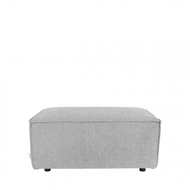 Pouf rectangulaire tissu King Zuiver Gris clair