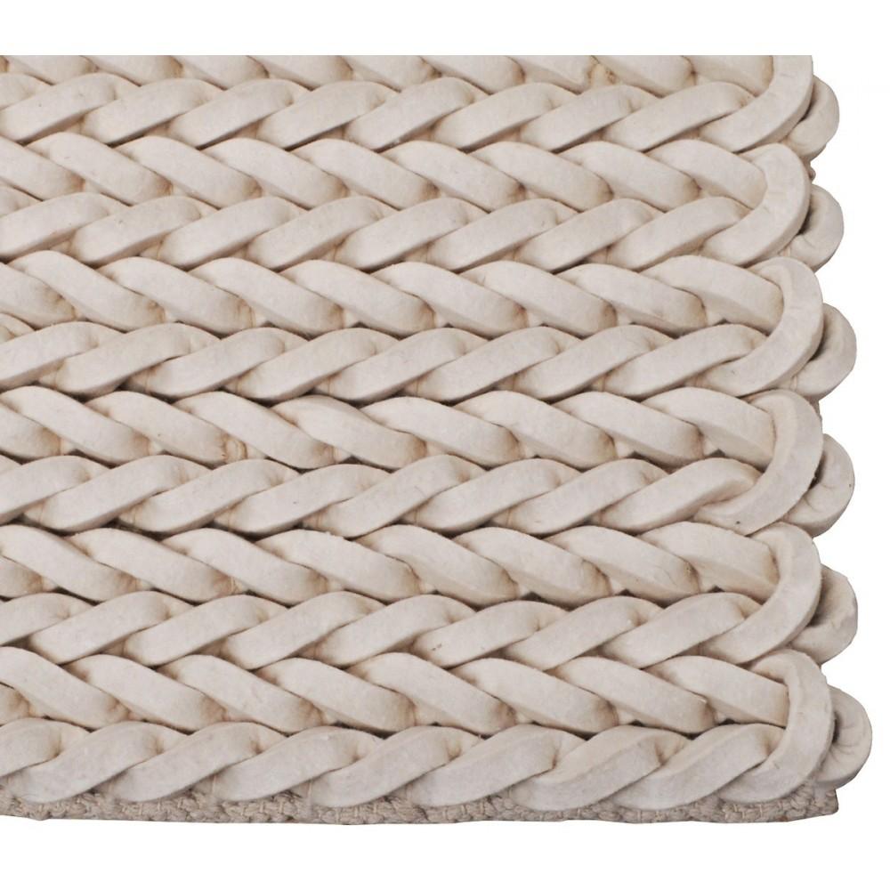Tapis nou main en laine liane beige gris Beaux tapis contemporains