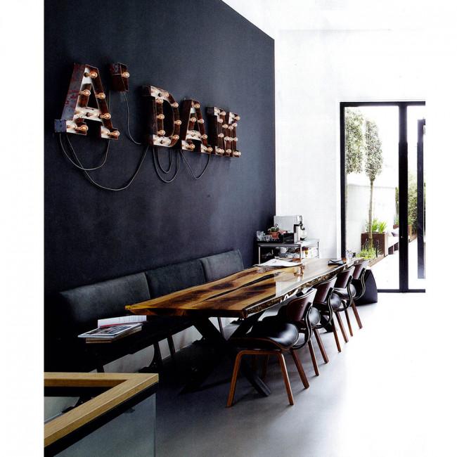 Chaise lounge bois Blackwood noire