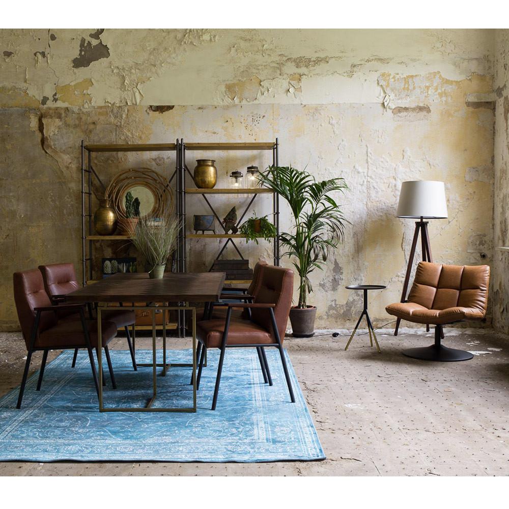 Fauteuil façon cuir pivotant lounge Dutchbone - BAR