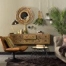 Lampe à poser vintage en métal Devi Dutchbone vert