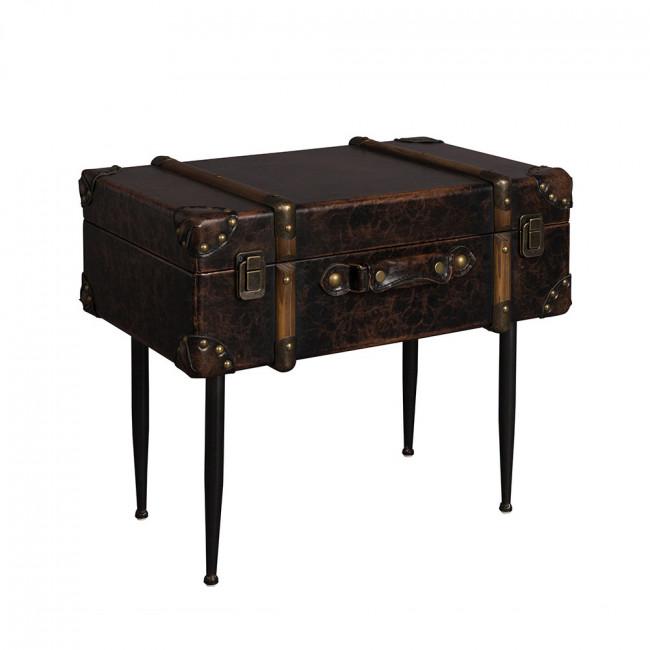 Table d'appoint vintage façon cuir Luggage