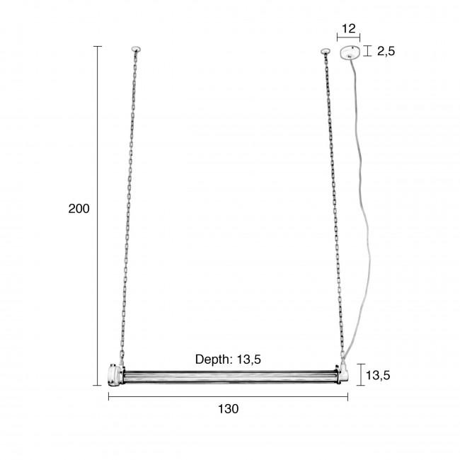 Suspension industrielle métal XL Prime Zuiver