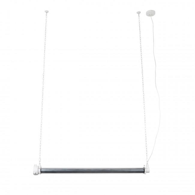 Suspension industrielle métal XL Prime Zuiver Blanc