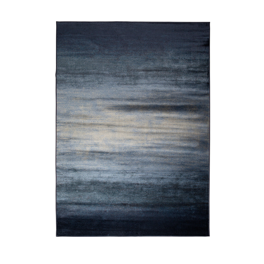 Tapis Imprim Bleu Obi Zuiver By Drawer