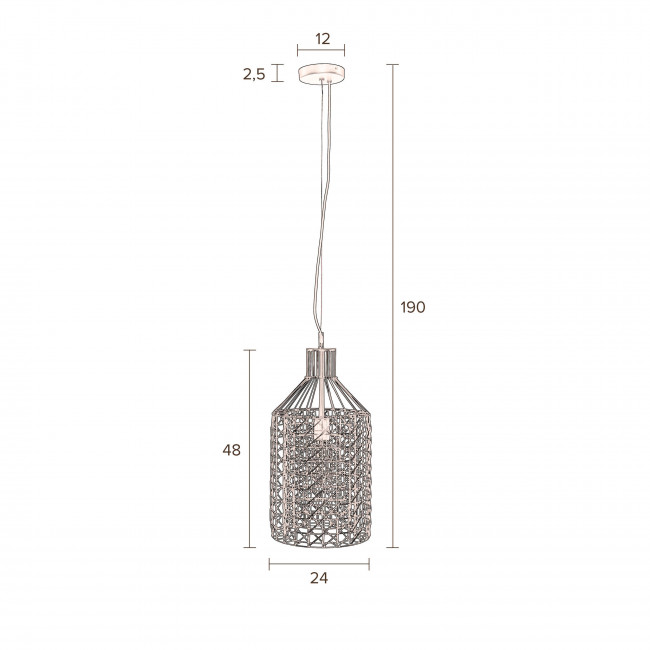 Suspension métal Jim Tall Zuiver