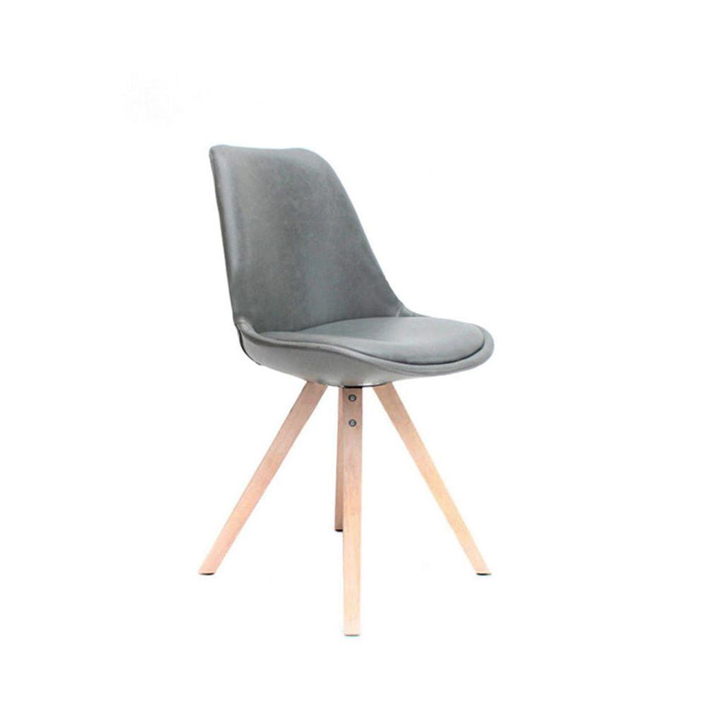 Chaise design simili cuir bari drawer for Chaise design cuir