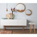 Miroir en bois Round Wall Zuiver par Drawer