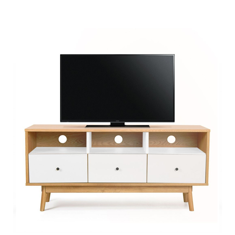 meuble tv scandinave skoll by drawer. Black Bedroom Furniture Sets. Home Design Ideas