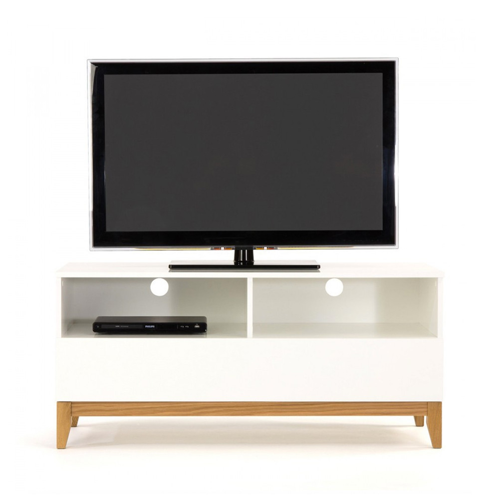 Meuble Tv Design Pratique Blanco Wide Drawer
