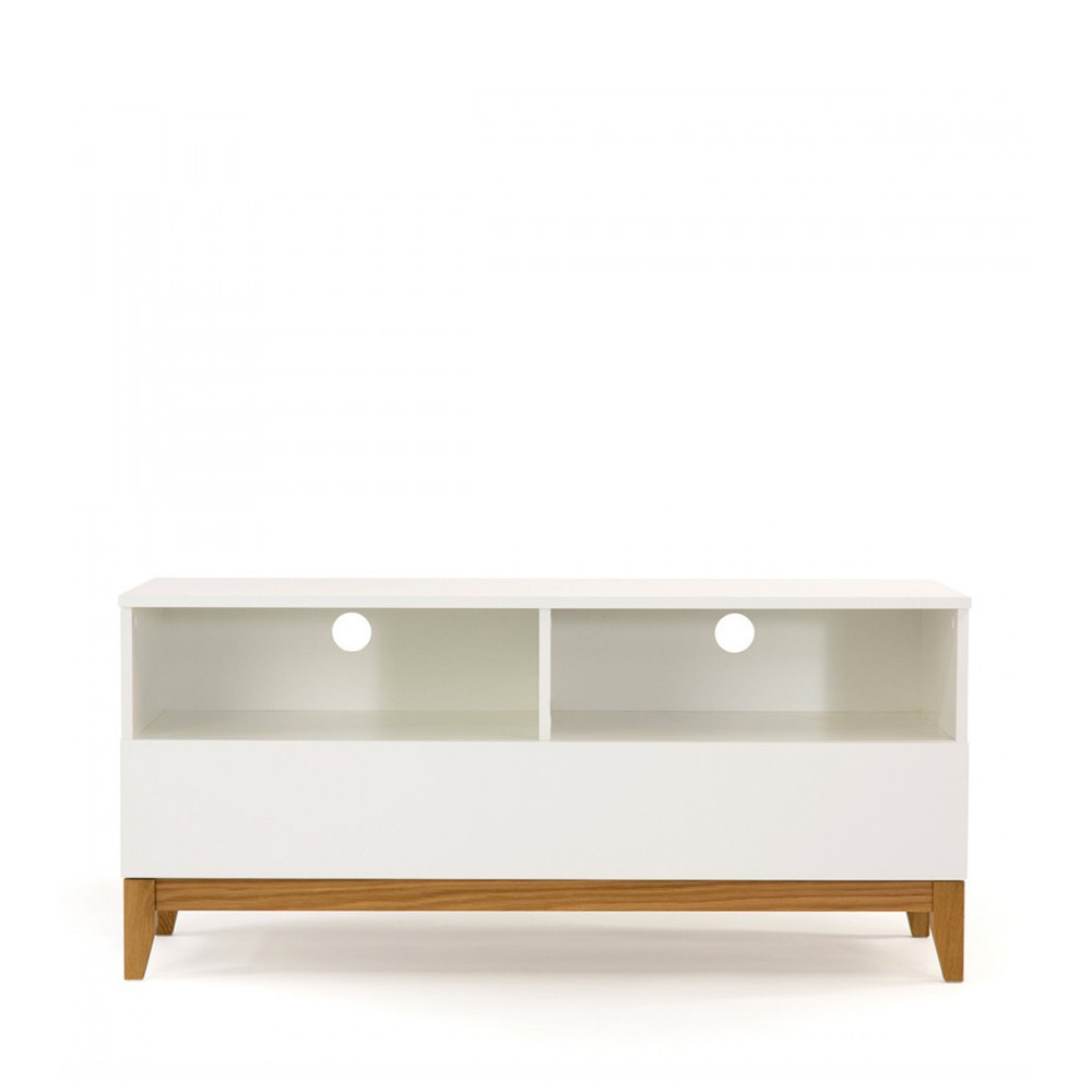 meuble tv design pratique blanco wide drawer. Black Bedroom Furniture Sets. Home Design Ideas