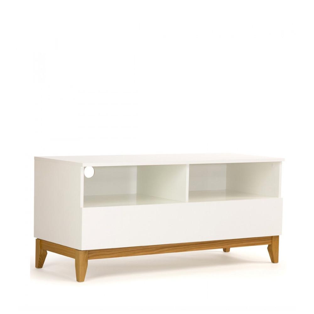 Meuble Tv Design Pratique Blanco Wide Drawer # Meuble Tv Arrondi