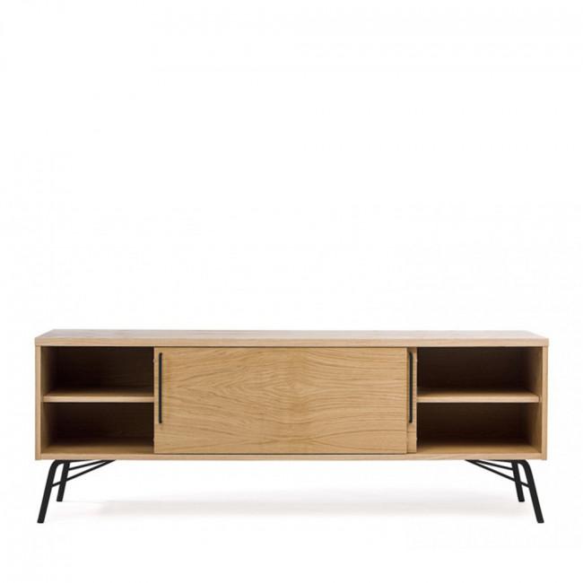 Meuble TV design bois et métal Ashburn
