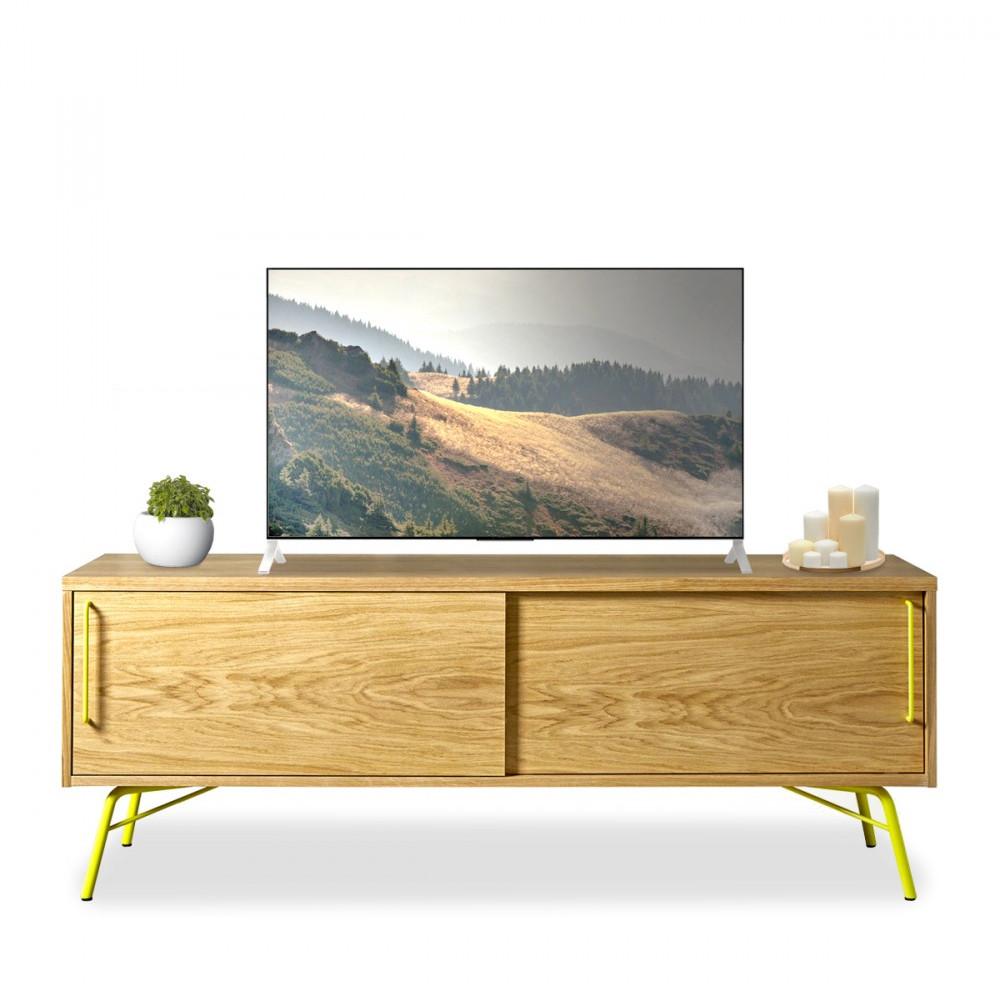 Meuble Tv Design Et Pratique Ashburn Drawer Fr # Meuble Tv Design Bois Et Metal