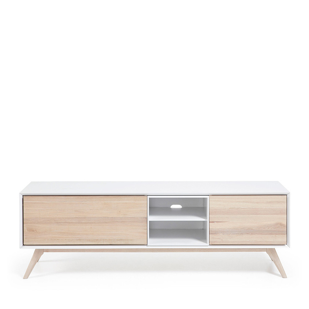 Meuble Tv Design Bois De Fr Ne Portes Battantes Josh By Drawer # Meuble Tv Porte