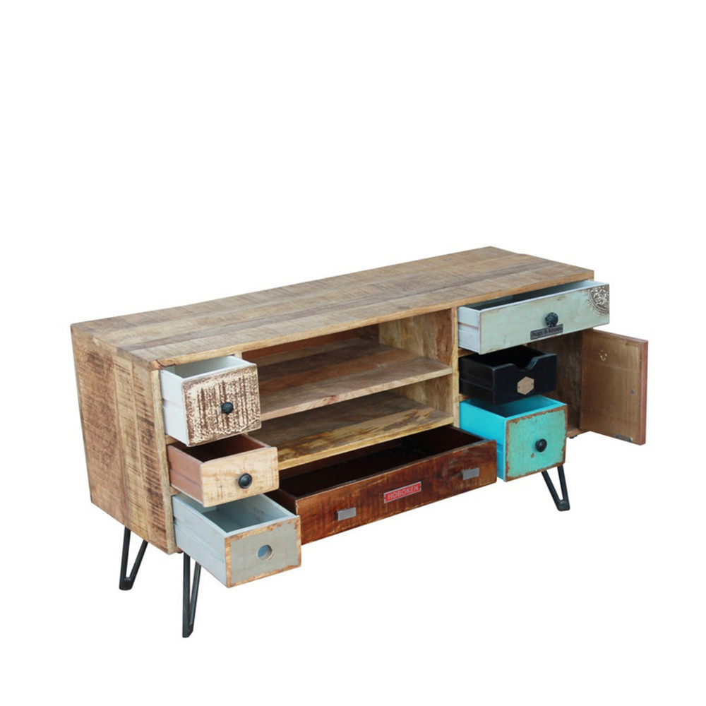Meuble TV vintage en bois Fusion by Drawer -> Meuble Tv Zuiver