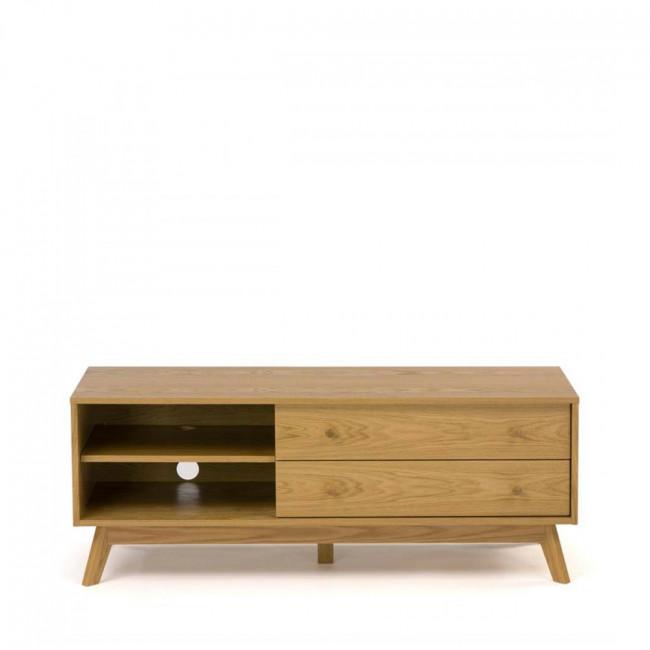 meuble tv design bois massif kensal. Black Bedroom Furniture Sets. Home Design Ideas