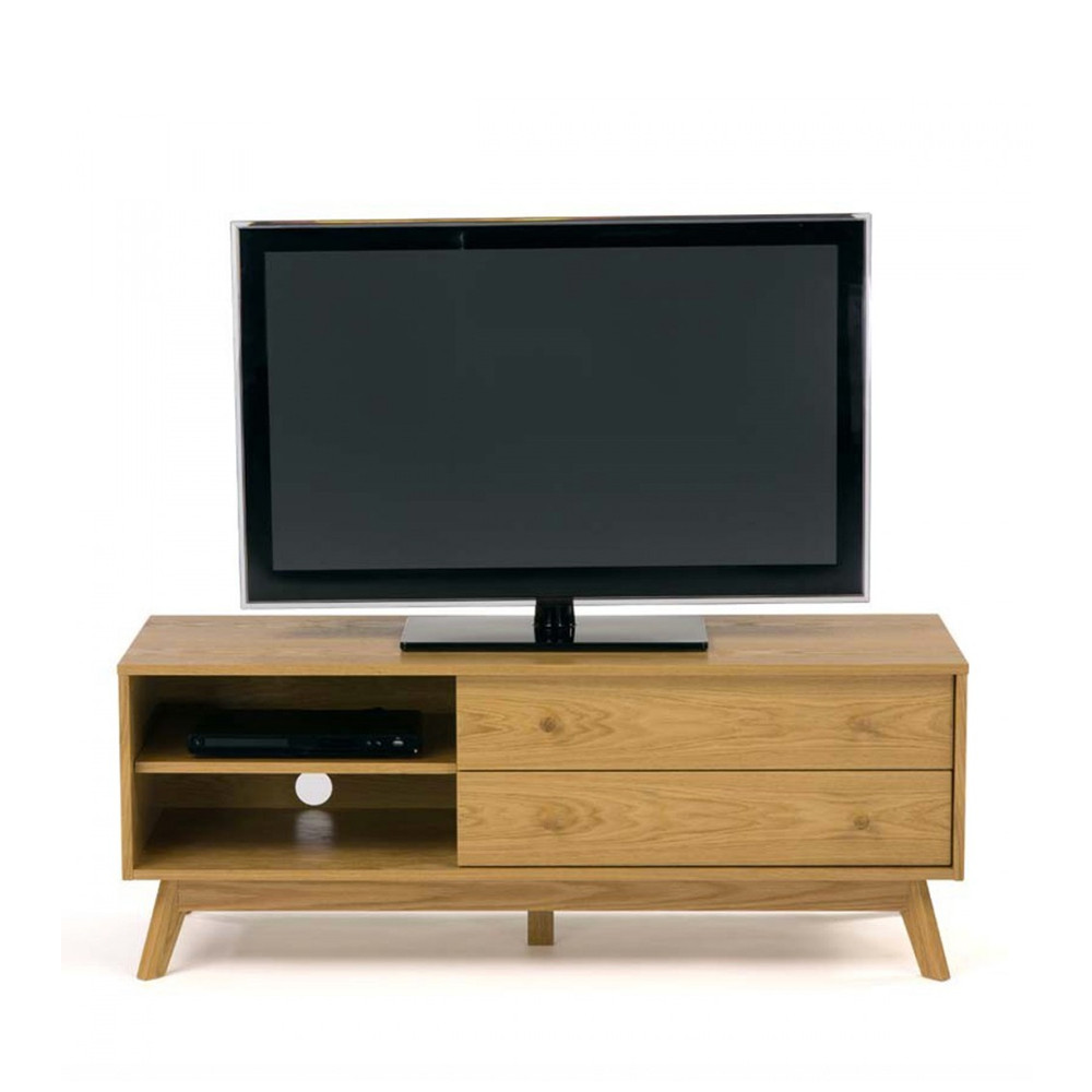 meuble tv design bois massif kensal. Black Bedroom Furniture Sets. Home Design Ideas