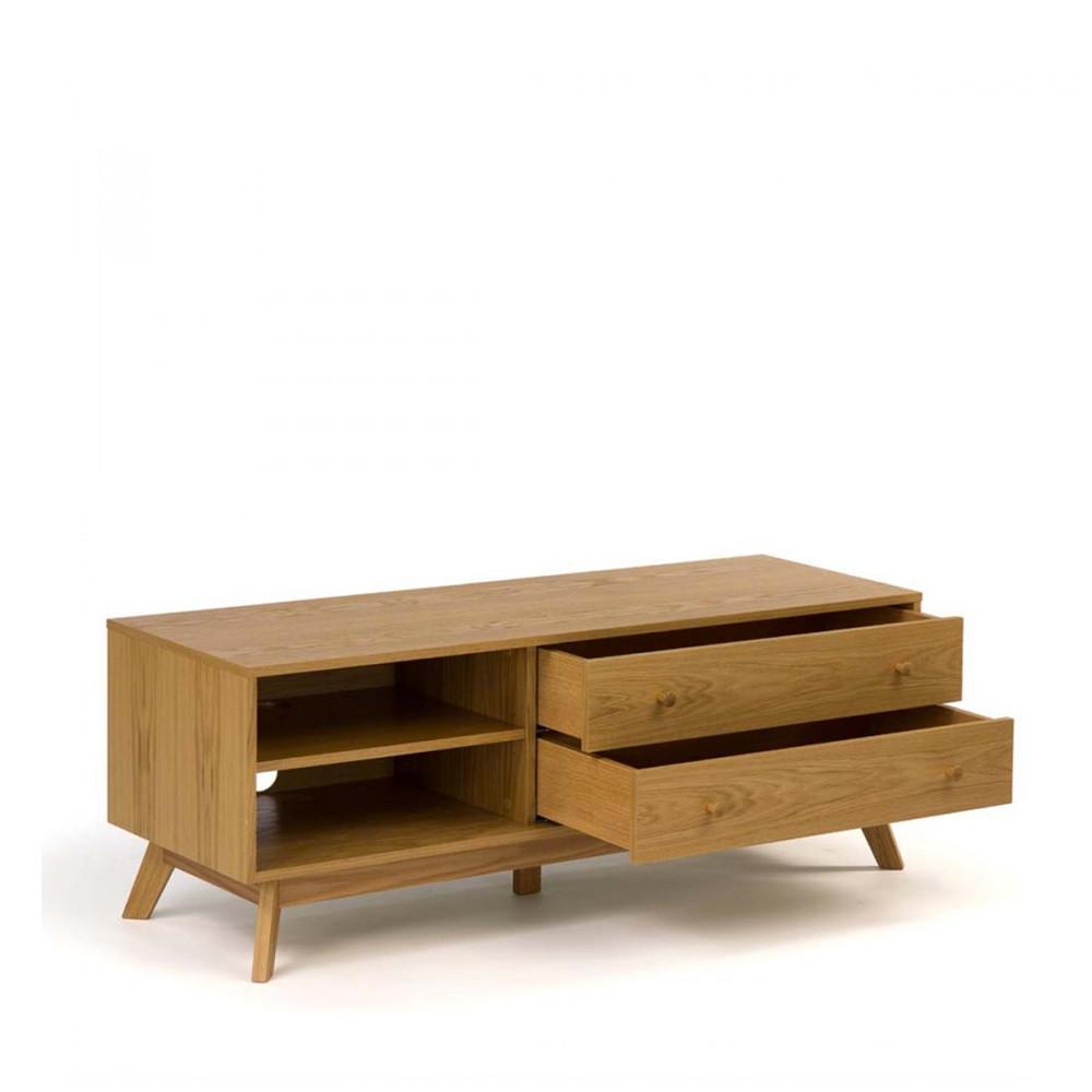 Meuble Bois Massif Design > Meuble TV design bois massif Kensal Drawer fr