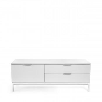 meuble tv laqu design adrian blanc - Meuble Tv Blanc Ancien