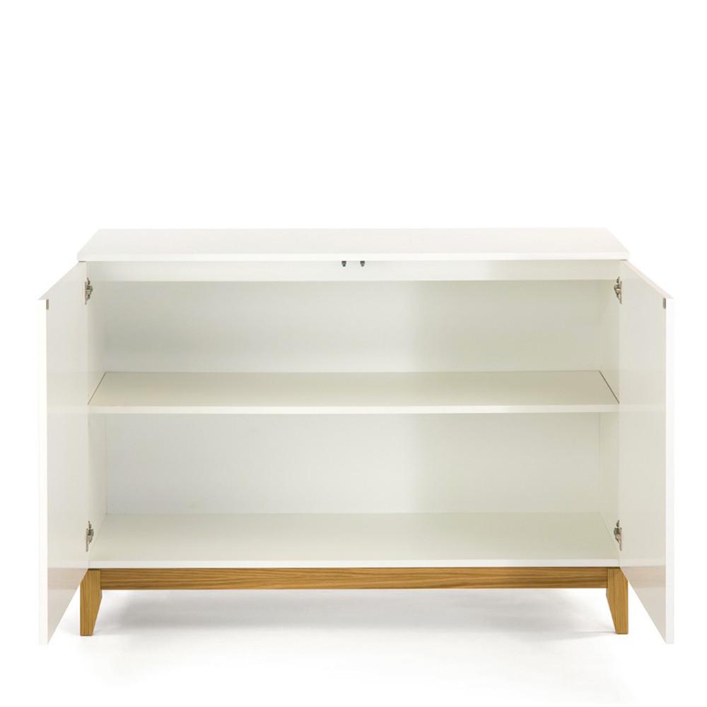 buffet design scandinave 2 portes blanco. Black Bedroom Furniture Sets. Home Design Ideas