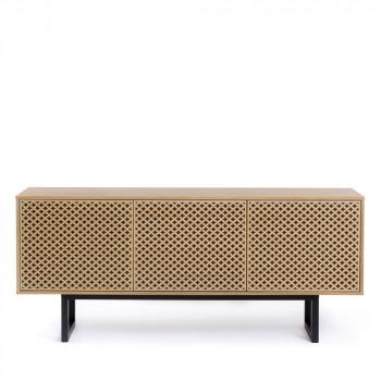Buffet contemporain bois motifs géométiques Camden