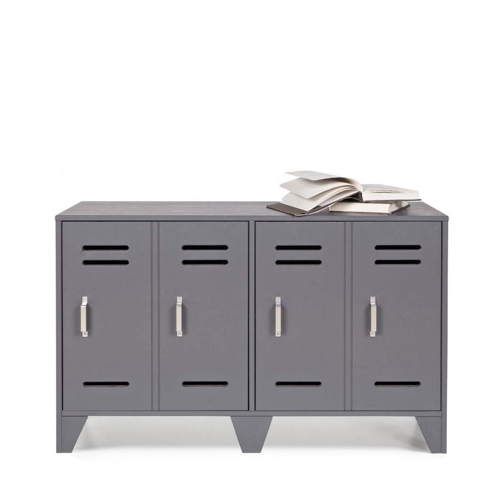 meuble de rangement 2 portes en pin fsc dirk par. Black Bedroom Furniture Sets. Home Design Ideas