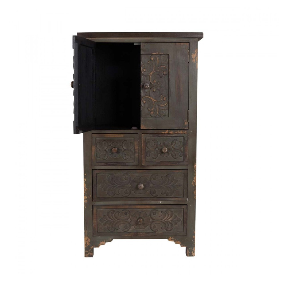 meuble de rangement bois fonc fuz par. Black Bedroom Furniture Sets. Home Design Ideas