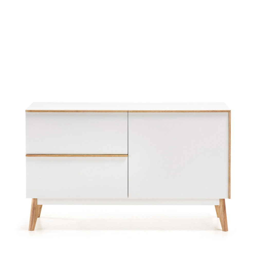 buffet design bois laqu blanc 2 tiroirs 1 porte hector by drawer. Black Bedroom Furniture Sets. Home Design Ideas