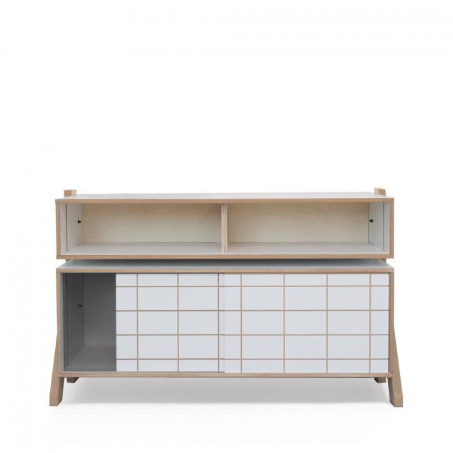 Buffet design en bois R-Frame High gris