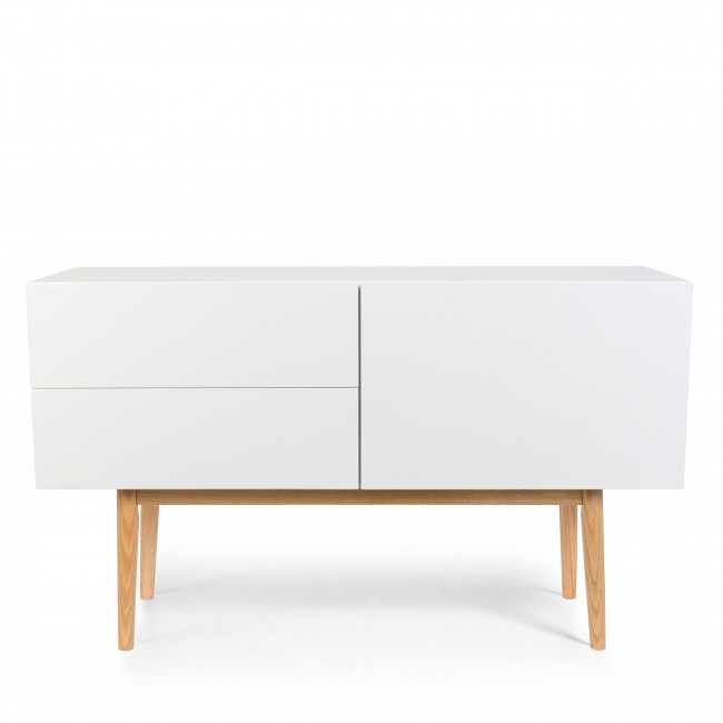 Buffet design 1 porte 2 tiroirs scandinave High Wood blanc