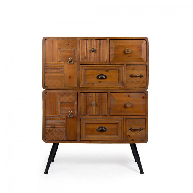 Buffet vintage bois 2 portes 8 tiroirs Jove Dutchbone