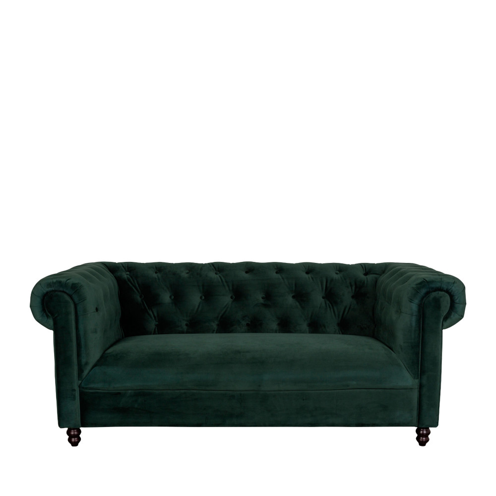 Canap 3 places velours capitonn chester velvet dutchbone for Canape velours vert