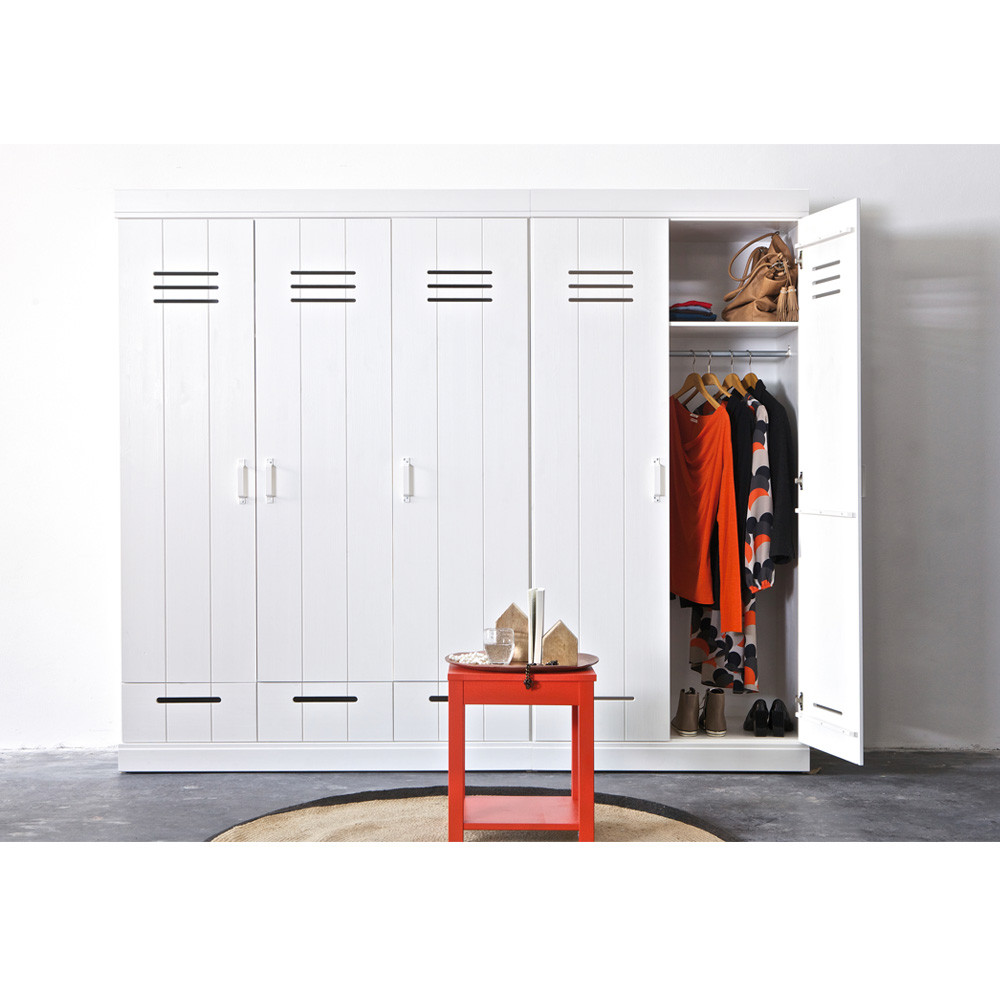 armoire vestiaire 3 portes 3 tiroirs connect by drawer. Black Bedroom Furniture Sets. Home Design Ideas