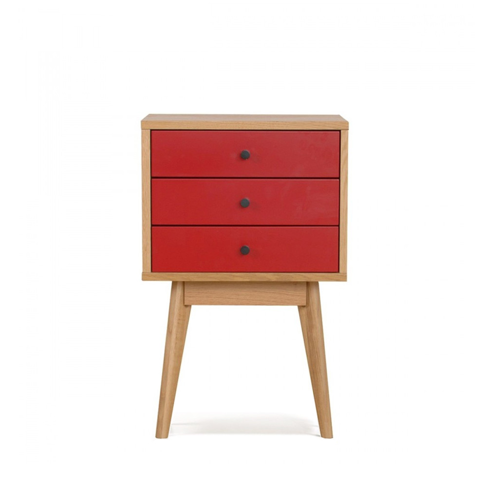 Meuble de rangement rouge maison design - Table de chevet rouge ...