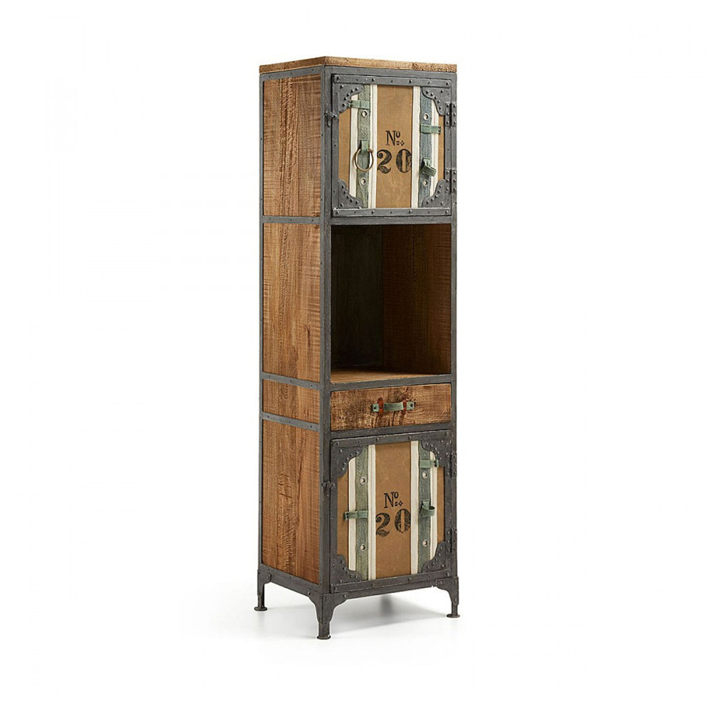etag re industrielle nime en bois et m tal by. Black Bedroom Furniture Sets. Home Design Ideas