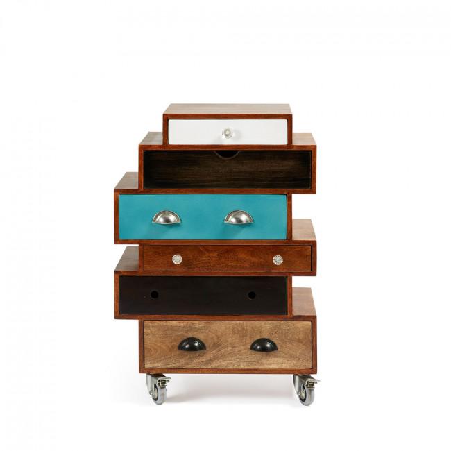commode design bois de manguier multicolore robin by drawer. Black Bedroom Furniture Sets. Home Design Ideas
