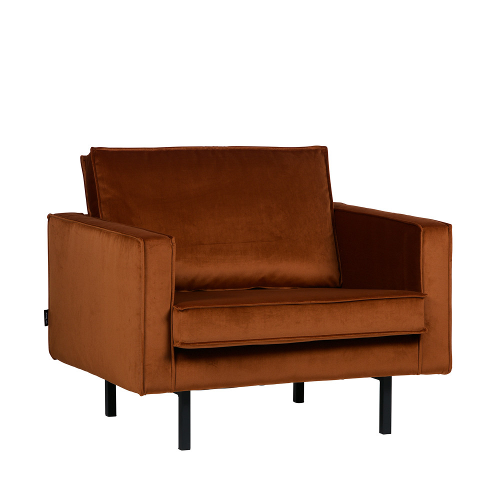 fauteuil vintage en velours velvet bronco par. Black Bedroom Furniture Sets. Home Design Ideas