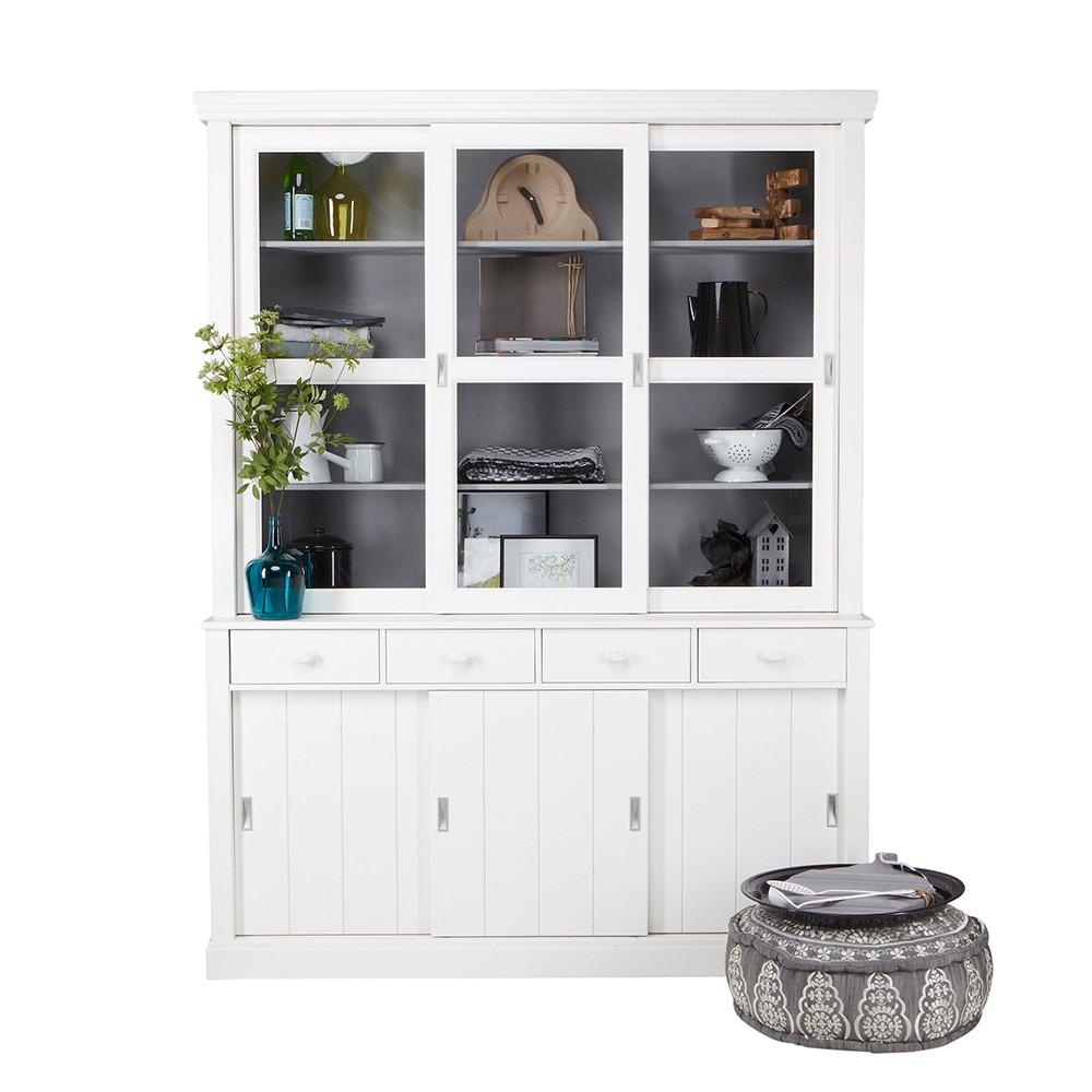 vaisselier en pin gris sjaak par. Black Bedroom Furniture Sets. Home Design Ideas