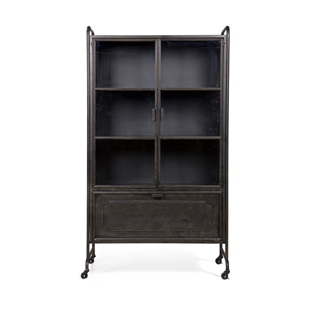vitrine en m tal style industriel hudson par. Black Bedroom Furniture Sets. Home Design Ideas
