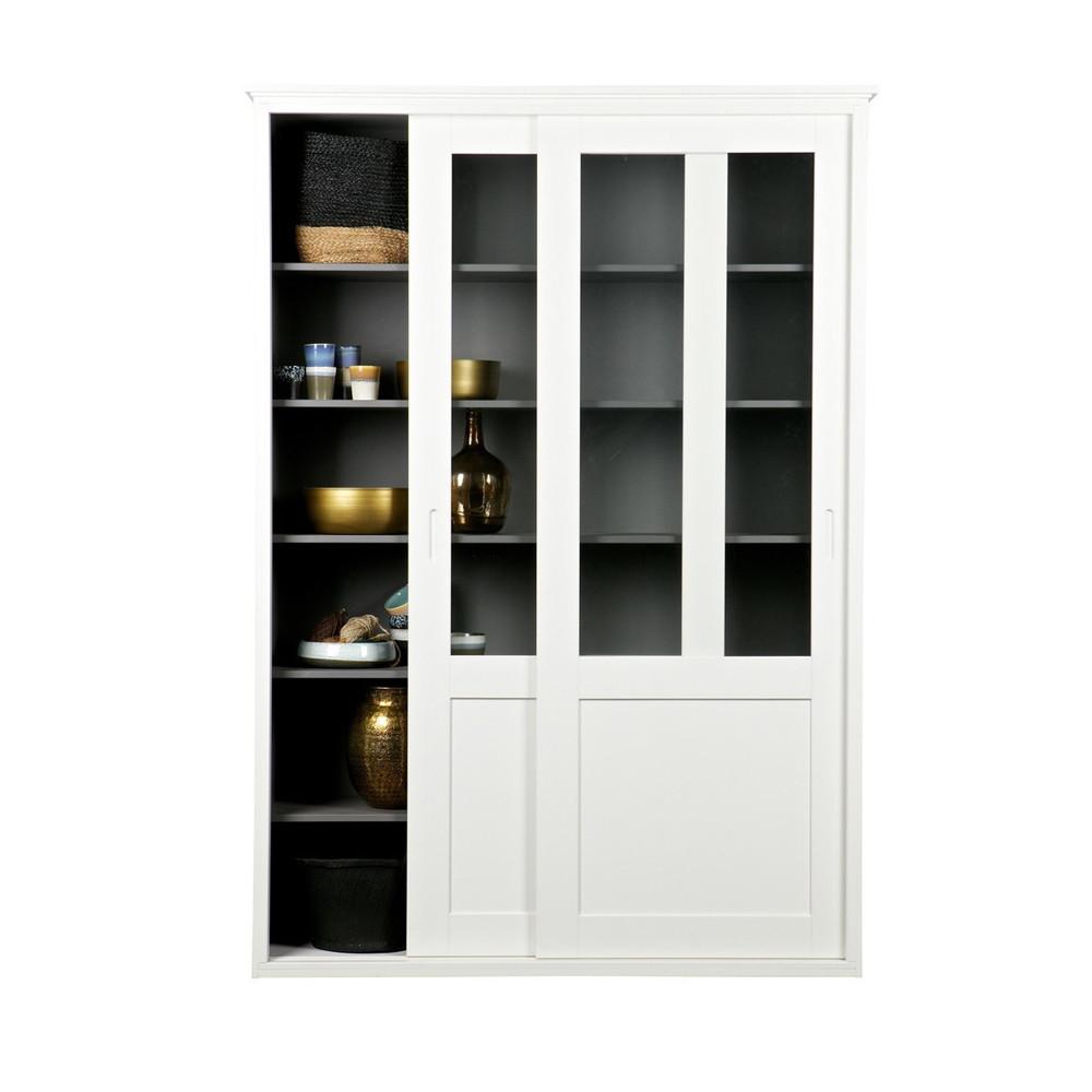 Vaisselier en bois 2 portes coulissantes vince by drawer - Armoire 2 portes coulissantes ...