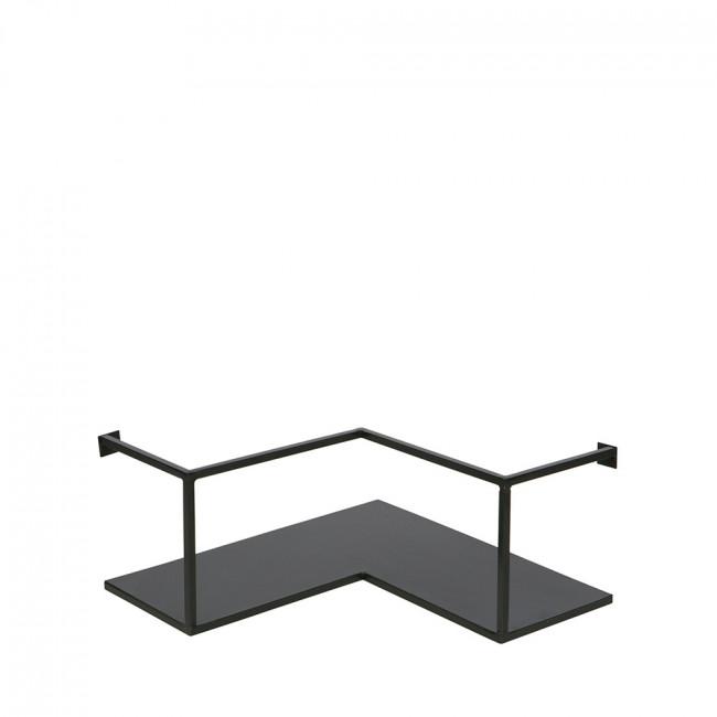 Etagère d'angle design industriel métal noir Meert