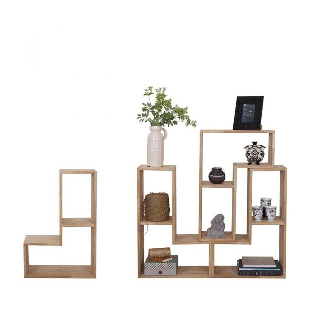 Rangement design modulaire en bois massif filippus par for Etagere cuisine rangement