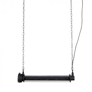 Suspension industrielle métal L Prime Zuiver Noir