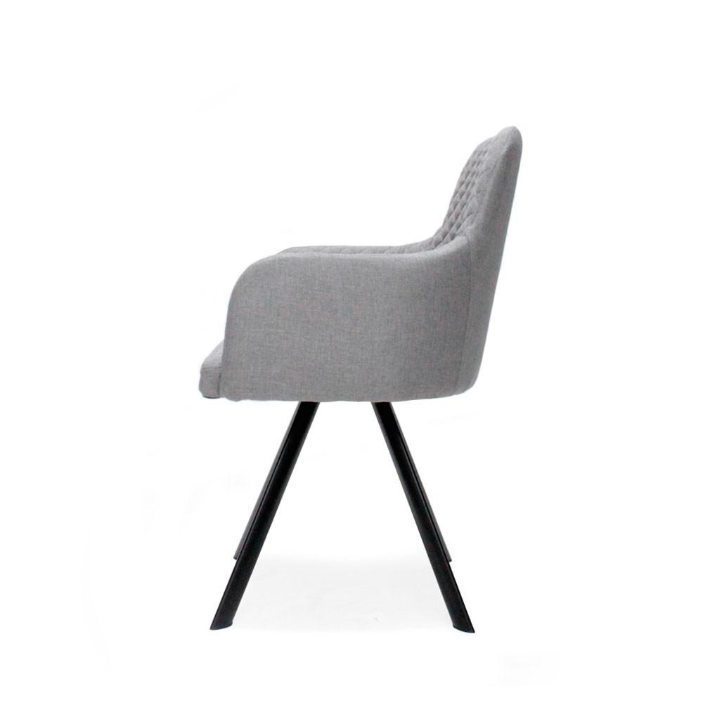 lot de 2 chaises en tissu et m tal tigo drawer. Black Bedroom Furniture Sets. Home Design Ideas